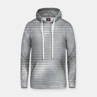 Thumbnail image of Luxury Abstract Silver on Pearl pattern Cotton hoodie, Live Heroes