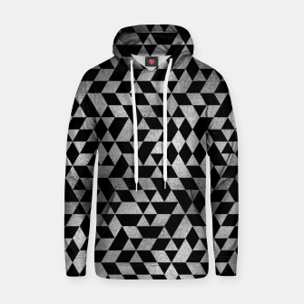 Thumbnail image of Luxury Geometric Silver on Pearl pattern Cotton hoodie, Live Heroes