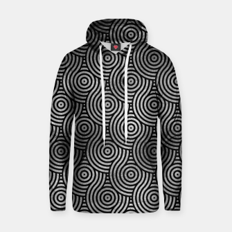 Thumbnail image of Luxury Abstract Silver on Black pattern Cotton hoodie, Live Heroes