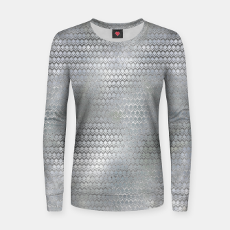 Thumbnail image of Luxury Abstract Silver on Pearl pattern Woman cotton sweater, Live Heroes