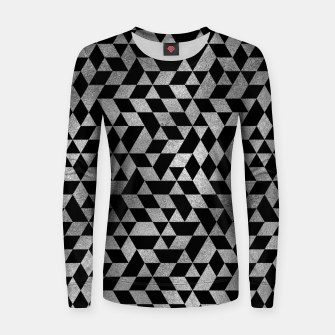 Thumbnail image of Luxury Geometric Silver on Pearl pattern Woman cotton sweater, Live Heroes