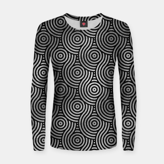 Thumbnail image of Luxury Abstract Silver on Black pattern Woman cotton sweater, Live Heroes