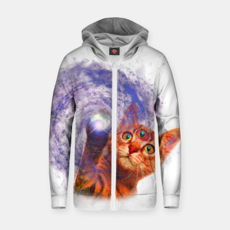 Miniatur Cat The Space Cotton zip up hoodie, Live Heroes