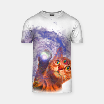 Miniatur Cat The Space T-shirt, Live Heroes