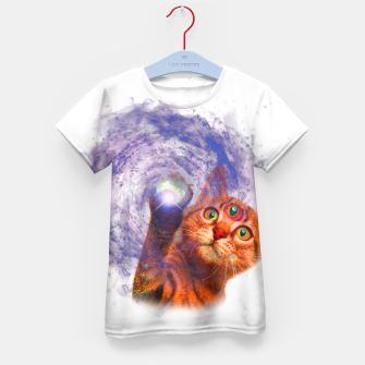 Miniatur Cat The Space Kid's t-shirt, Live Heroes