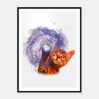 Miniatur Cat The Space Framed poster, Live Heroes