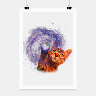 Miniatur Cat The Space Poster, Live Heroes