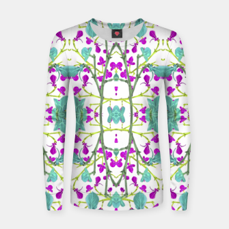 Miniaturka Colorful Modern Floral Pattern Woman cotton sweater, Live Heroes
