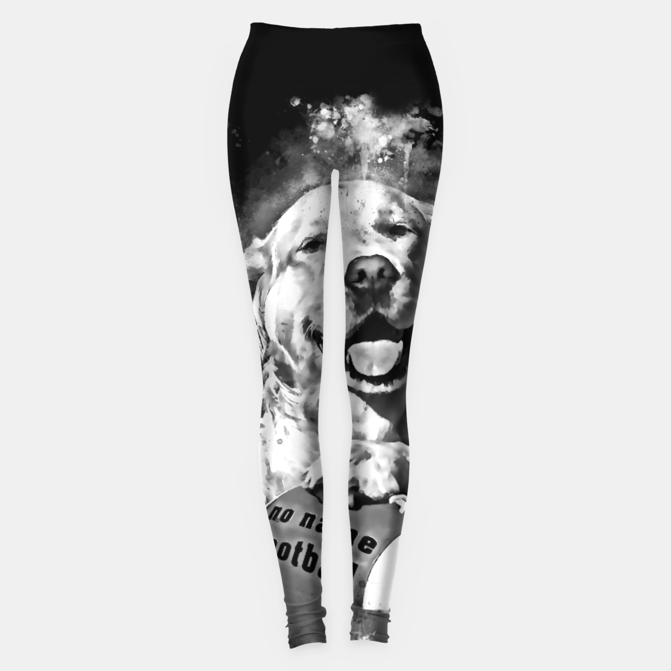 64d62b6d04e5a Image of gxp golden retriever dog hund football splatter watercolor  wasserfarbe spritzer schwarz weiß Leggings -