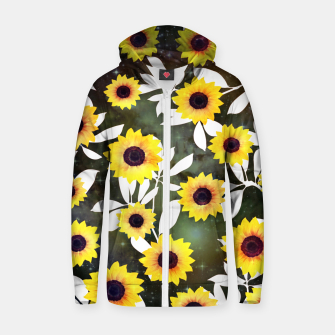 Thumbnail image of Sunflower galaxy Cotton zip up hoodie, Live Heroes