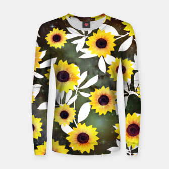 Thumbnail image of Sunflower galaxy Woman cotton sweater, Live Heroes