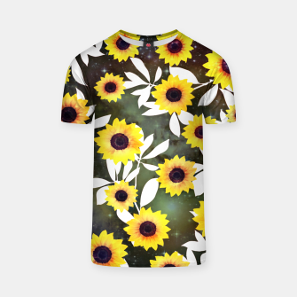 Thumbnail image of Sunflower galaxy T-shirt, Live Heroes