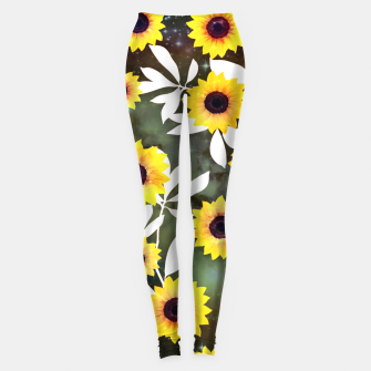 Thumbnail image of Sunflower galaxy Leggings, Live Heroes