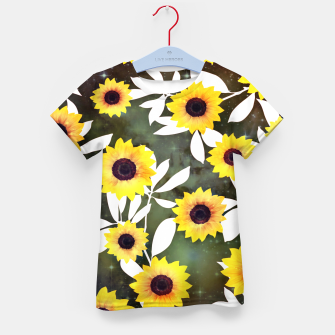 Thumbnail image of Sunflower galaxy Kid's t-shirt, Live Heroes