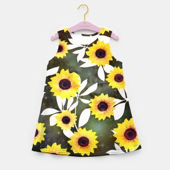 Thumbnail image of Sunflower galaxy Girl's summer dress, Live Heroes