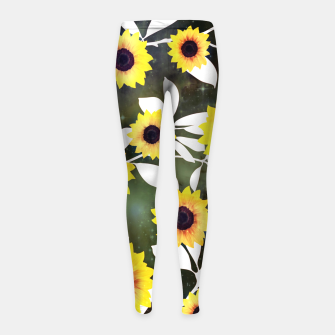 Thumbnail image of Sunflower galaxy Girl's leggings, Live Heroes