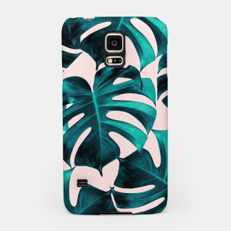 Thumbnail image of Tropical Monstera Leaves Dream #7 #tropical #decor #art  Handyhülle für Samsung, Live Heroes