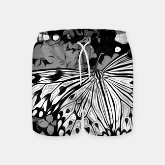 Thumbnail image of gxp butterfly schmetterling vector art black white schwarz weiß Badeshorts, Live Heroes