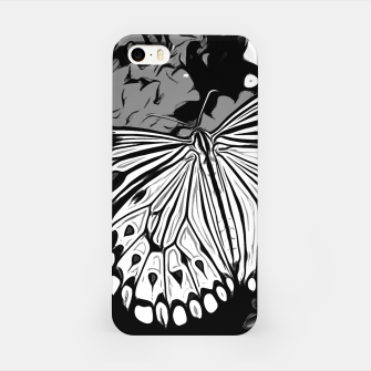 Thumbnail image of gxp butterfly schmetterling vector art black white schwarz weiß iPhone-Hülle, Live Heroes