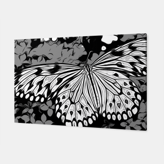 Thumbnail image of gxp butterfly schmetterling vector art black white schwarz weiß Canvas, Live Heroes