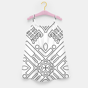 Thumbnail image of IdiForm Typography Mix Girl's dress, Live Heroes