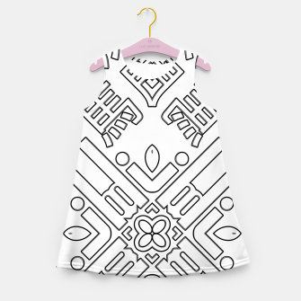 Thumbnail image of IdiForm Typography Mix Girl's summer dress, Live Heroes