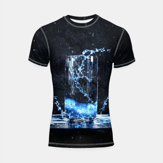 Thumbnail image of Blue Energy Drink Shortsleeve rashguard, Live Heroes