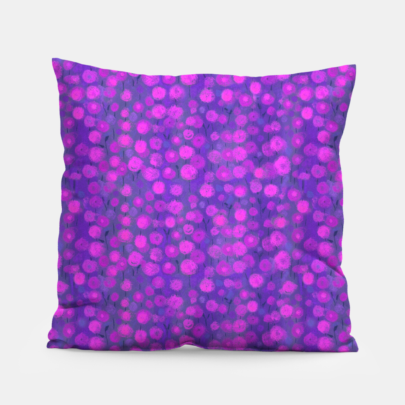 Image of Candi Field, Purple & Pink Pillow - Live Heroes