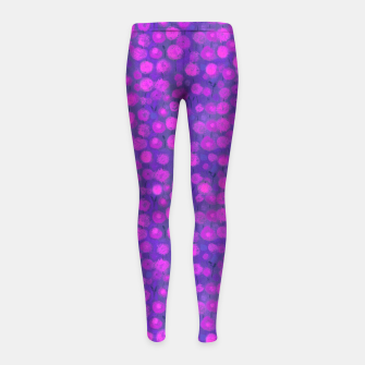 Candi Field, Purple & Pink Girl's leggings thumbnail image