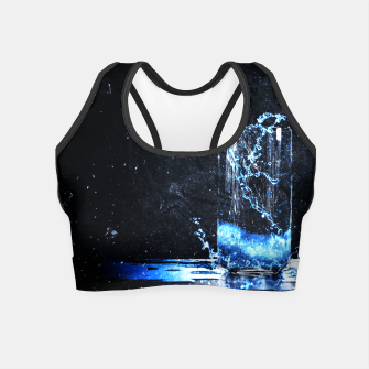Thumbnail image of Blue Energy Drink Crop Top, Live Heroes