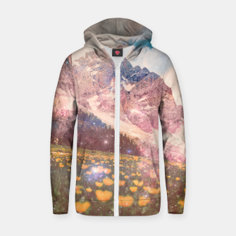 Thumbnail image of Fields In Time Cotton zip up hoodie, Live Heroes
