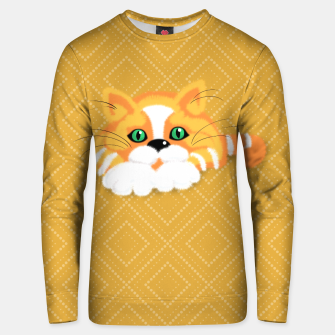 Miniature de image de Cute Fluffy Ginger and white cat Cotton sweater, Live Heroes