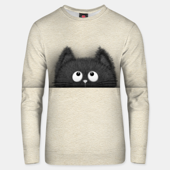 Miniaturka Cute Fluffy Black cat peaking out  Cotton sweater, Live Heroes