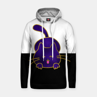 Thumbnail image of Cute Happy Purple Stained Glass Cat  Cotton hoodie, Live Heroes