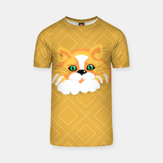 Miniatur Cute Fluffy Ginger and white cat T-shirt, Live Heroes