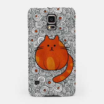 Miniatur Cute Ginger Cat - Stained glass and swirls Samsung Case, Live Heroes