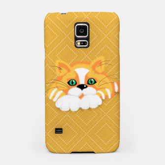 Miniatur Cute Fluffy Ginger and white cat Samsung Case, Live Heroes