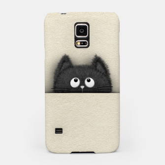 Miniaturka Cute Fluffy Black cat peaking out  Samsung Case, Live Heroes