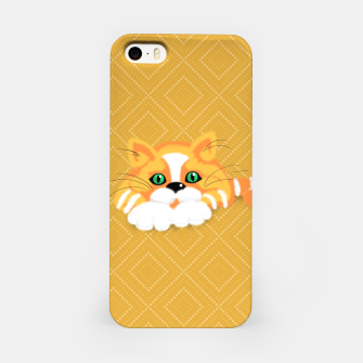 Miniatur Cute Fluffy Ginger and white cat iPhone Case, Live Heroes