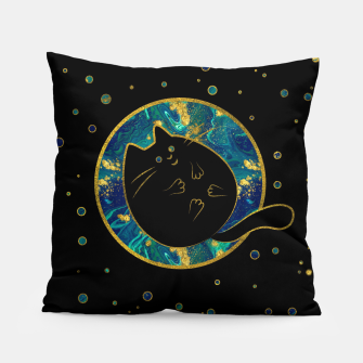 Thumbnail image of Funny Black Chubby Cat   Pillow, Live Heroes