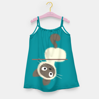Thumbnail image of Funny Siamese Kitten upside down Girl's dress, Live Heroes