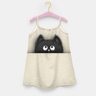 Miniaturka Cute Fluffy Black cat peaking out  Girl's dress, Live Heroes