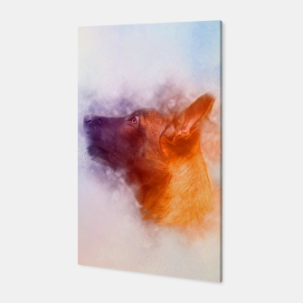 Thumbnail image of Belgian Malinois Puppy Painting - Mechelaar Canvas, Live Heroes