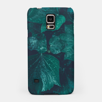 Thumbnail image of Dark emerald green ivy leaves water drops Samsung Case, Live Heroes