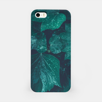Thumbnail image of Dark emerald green ivy leaves water drops iPhone Case, Live Heroes