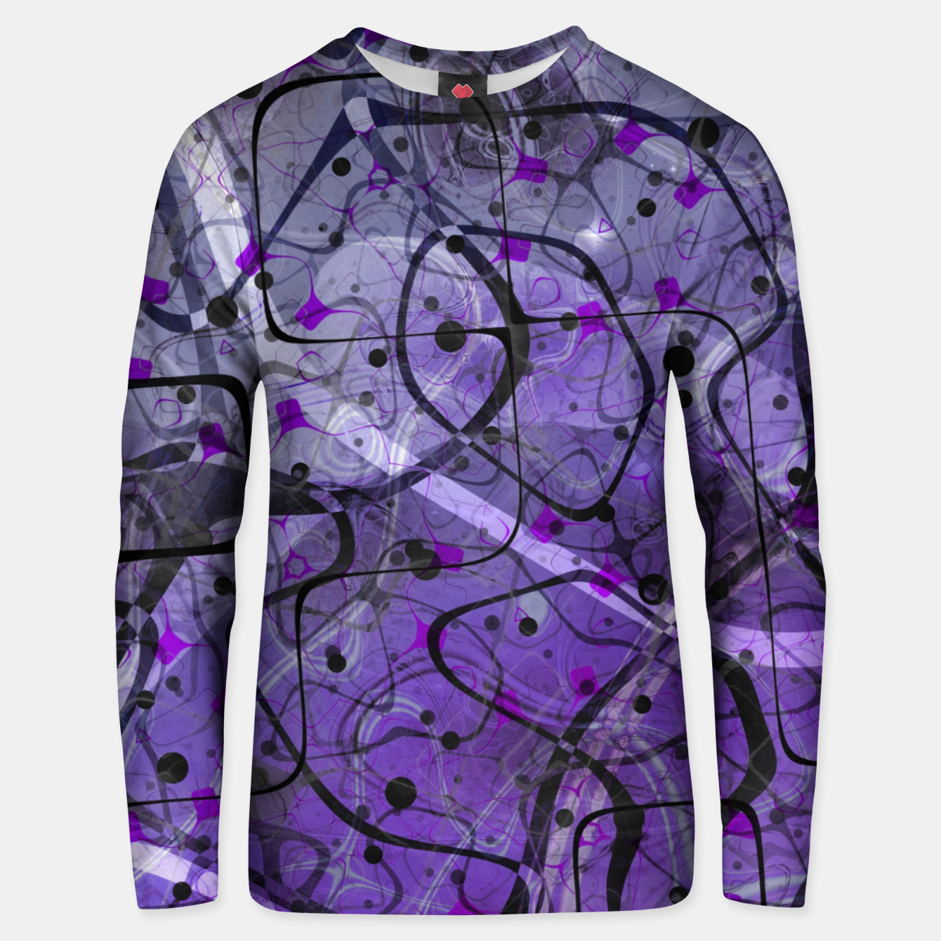 Foto Messy Lavender Cotton sweater - Live Heroes