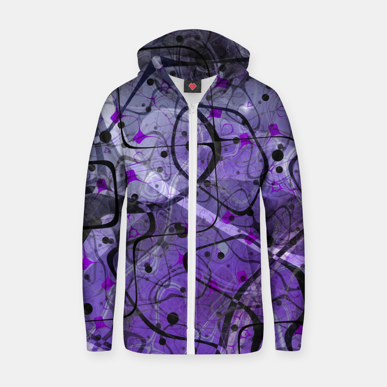 Foto Messy Lavender Cotton zip up hoodie - Live Heroes