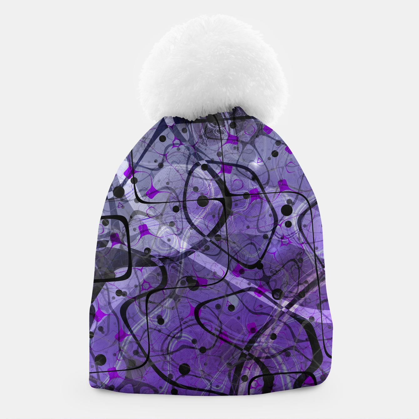Foto Messy Lavender Beanie - Live Heroes