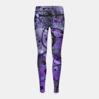 Messy Lavender Girl's leggings Bild der Miniatur
