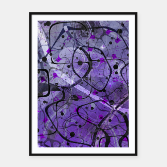 Thumbnail image of Messy Lavender Framed poster, Live Heroes